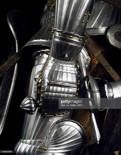 Stock Photo : Gauntlet from armor of man-at-arms in steel, made in Innsbruck by Konrad Treytz Younger, 1520, Austria, 16th century