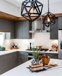 Black and White Kitchen is Preferred More - Decology - Home Decoration F . Kitchen Cabinet Makers, Design Your Kitchen, Beautiful Kitchens, Home Interior Design, Kitchen Remodel, Building A House, Kitchen Decor, Sweet Home, House Design