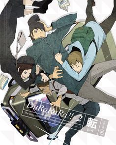 [Durarara!!] Kyohei Kadota. Erika Karisawa. Walker Yumasaki. Saburo Togusa. The van-gang is here! ^^