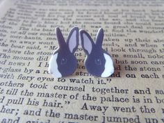 Bunny Rabbit Earrings by AGirlCalledBoz on Etsy, £4.50