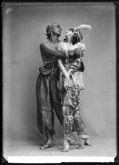 In honour of Fokine's birthday: rare photos of Mikhail Fokine and Vera Fokina in Scheherazade. 1910