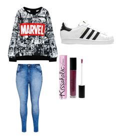"""Untitled #19"" by karleydavis63 on Polyvore featuring City Chic, adidas Originals and Parlor"