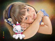 Stunning Digital painting of May Fong Robinson