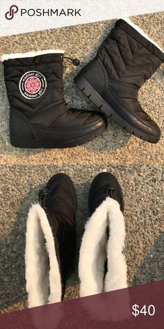 66335782257 Madden Girl Fur Lined Black Snow Boots Brand New with Tags Madden Girl  Icicile Winter Snow