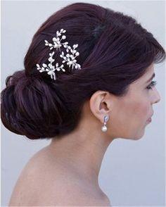 HITOP Fashion Retro elegant Damen Süß Perlen Blättern Stirnband Haarreif Haarschmuck Stirnschmuck Hochzeit - 1 Stück: Amazon.de: Schmuck