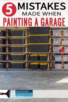 Garage floor paint mistakes that other make all the time. Learn before you start and do the DIY job right! Painted Floors, Painted Furniture, Furniture Ideas, Garage Floor Paint, How To Make Paint, Types Of Painting, Epoxy Floor, Diy Tutorial, Diy Projects