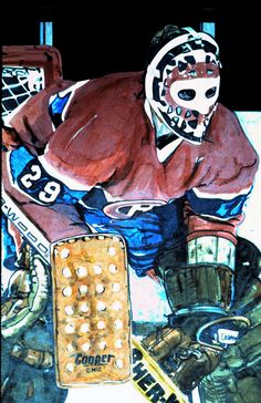 Ken Dryden Montreal Canadiens goalie by Neal Portnoy.