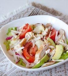 Chicken Salad: for dinner! California Chicken Salad Recipe, Chicken Salad Recipes, Raw Food Recipes, Meat Recipes, Healthy Recipes, Top Salad Recipe, Good Food, Yummy Food, Salad Ingredients