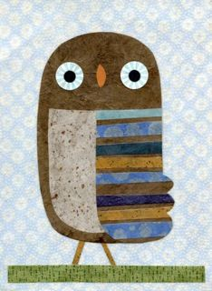 Kate Endle Owl Walking...love the colours of this little guy!