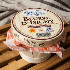 Isigny Unsalted Butter in Basket: Buy Isigny Unsalted Butter in Basket Online, Read Reviews at igourmet.com