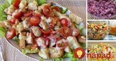 Vynikajúce domáce šaláty, ktoré osviežia, zasýtia a chutia vynikajúco. Čo by ste povedali napríklad na vynikajúcu domácu verziu šalátu Cézar, svieži jarný šalátik alebo fantastický šalát z krabích tyčiniek? Inšpirujte sa ľahkými a chutnými jedlami plnými farieb a chutí.