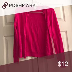 J. Crew cardigan Bright pink cardigan with full length sleeves J. Crew Sweaters Cardigans