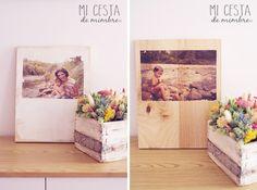 Mi cesta de mimbre | DIY: Mis fotos en madera. | http://www.micestademimbre.com