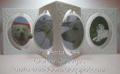 Anita Izendoorn using the Pop it Ups Oval Accordion and Oval Flourish Frame Edges dies by Karen Burniston for Elizabeth Craft Designs - Anita 's Warme Groetjes: Fotomodel