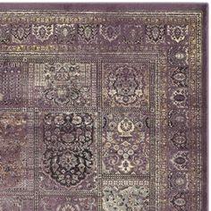 Safavieh Vintage Purple/ Fuchsia Distressed Panels Silky Viscose Rug (5'3 x 7'6)