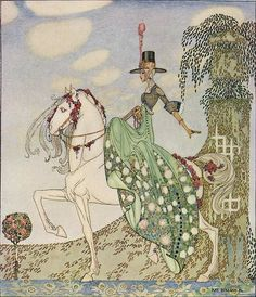 "Wonderful illustration by Kay Nielsen, from the book: ""In Powder and Crinoline: Old Fairy Tales"" (1913)"