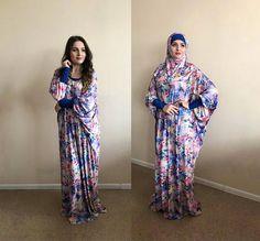 Floral Maxi Dress Plus Size, Prayer dress, Farasha Caftan, Boho dress, Muslim clothing, abaya Dress,