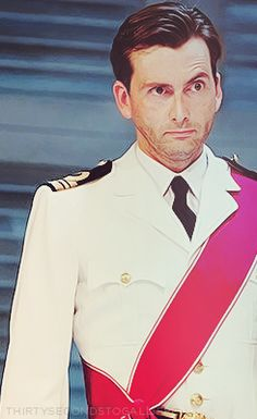 David Tennant in some sort of a uniform...@Amanda Seidel loves a man in uniform...