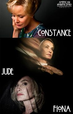 Jessica Lange characters in all three season of AHS