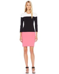 LOVE, LOVE, LOVE Michael Kors Colorblock Knit Dress.I'm just not understanding why it cost so much.