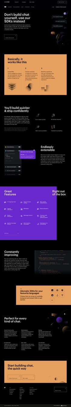 Chat SDK, API for real-time chat: Voice, Video &Text Chat for Apps & Websites - CometChat Website Design Layout, Web Layout, Page Layout, Layout Design, Layouts, Cool Web Design, Creative Web Design, Design Design, Graphic Design