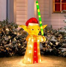 star wars christmas decoration outside outside christmas holidays darth vader yoda R2-D2
