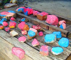 Fun things to do with rocks...sort them, crush them, hammer at them, paint them.