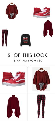 """""""red"""" by lillie-schild on Polyvore featuring Vans, Rosetta Getty and rag & bone"""