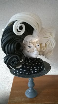 Cruella Foam Wig made by Lady Mallemour Foam Studio. Contact me for custom orders or available colours and models.