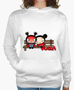 T-shirt Donna, felpa con cappuccio, bianca