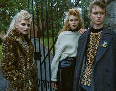 Lulu Leika, Frida Westerlund and Signe Lund Jensen | Elle Suécia Setembro 2016