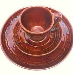 Vintage MarCrest Stoneware Dinner set 9 inch Plate by MenOfAction