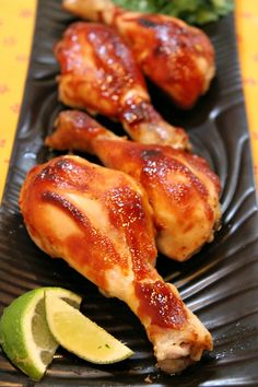 Easy Hoisin Chicken Drumsticks recipe: a great, family friendly dinner recipe - from RecipeGirl.com