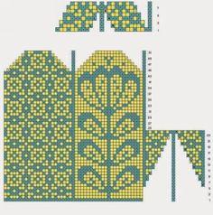 Loom Crochet, Crochet Mittens Free Pattern, Fair Isle Knitting Patterns, Bead Crochet Rope, Knit Mittens, Knitting Charts, Knitting Stitches, Knitting Socks, Knit Art
