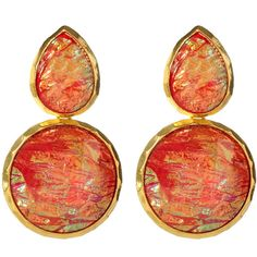 Amrita Singh Andra Winter Earrings ($50) ❤ liked on Polyvore featuring jewelry, earrings, accessories, orange, brincos, amrita singh jewelry, orange earrings, earring jewelry, amrita singh jewellery and orange jewelry
