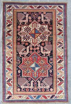 Caucassian Akhistafa rug 1880-1890