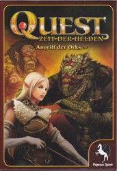 """Leicht und flockig ins Reich der Magie!    """"Quest - Angriff"""" der Orks ist ein Fantasy Rollenspiel, das durch seine einfachen und gut durchdachten Spielabläufe, gerade Anfängern dieser Spielart einen leichten Einstieg ermöglicht. Doch auch alte Hasen, die sich in diesem Genre auskennen, kommen auf ihre Kosten.In der reichhaltig ausgestatteten Schachtel sind 4 unterschiedliche Heldentypen (Zwerg/Elfe/Zauberin/Schamane) zu finden, die von den Spielern dargestellt werden. Pegasus, Fantasy, Troll, Board Games, Poster Prints, Android, Boards, Hero, Artwork"""