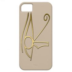 Eye of Horus iPhone 5 Case, symbolizing the protection of the Egyptian god Horus. This design is available on other products in  egyptiansymbols.peculiardesign.net . See other collections in peculiardesign.net