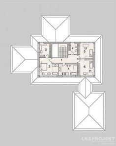 Projekty domów LK Projekt LK&1259 rzuty Poddasze