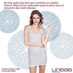 Combina el vestido blanco. #Lineas #outfit #moda #tendencias #2014 #ropa #prendas #estilo #primavera #outfit #vestido