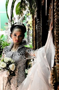 Me, with traditional Indonesian wedding dress Flower Exhibition Ilsan lake, Goyang city Taken by Suhaeri View On Black Indonesian Kebaya, Indonesian Wedding, Wedding Dresses With Flowers, Dress Wedding, Headdress, Headpiece, Yes To The Dress, Human Condition, Weeding