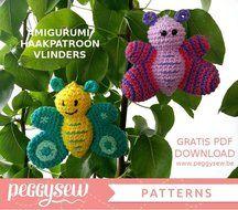 GRATIS PDF Haakpatroon amigurumi: vlindertjes