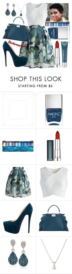 """""""💑"""" by sexyshonda ❤ liked on Polyvore featuring Nails Inc., Hard Candy, Maybelline, Chicwish, Christian Louboutin, Fendi, Ross-Simons and Mastoloni"""