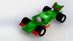 Mi diseño de formula 1 de juguete. Primer render.