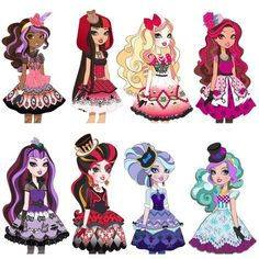 All about Monster High: Ever After High Ever After High, Monster High Birthday, Monster High Party, Lizzie Hearts, Ever After Dolls, High Hat, Chica Cool, Pinturas Disney, Fashion Drawings