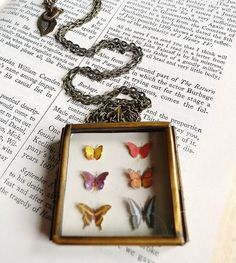 The Biology of Butterflies Hinged Locket by TinyTastyJewelryCafe, $60.00