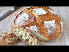 Pan SIN AMASAR de 1kg de harina común con corteza CRUJIENTE. FÁCIL y sin usar utensilios especiales - YouTube Pan Dulce, Pan Bread, Bread Rolls, Cake Pops, Bread Recipes, Sandwiches, Bakery, Food And Drink, Yummy Food