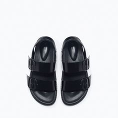 ZARA - SHOES & BAGS - BUCKLED FLAT SANDALS