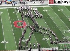 Ohio State Marching Band tribute to Michael Jackson