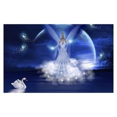 New Art Funny Wallpapers Jokes Beautiful Fantasy Angels Wallpapers... ❤ liked on Polyvore featuring home, home decor and wallpaper